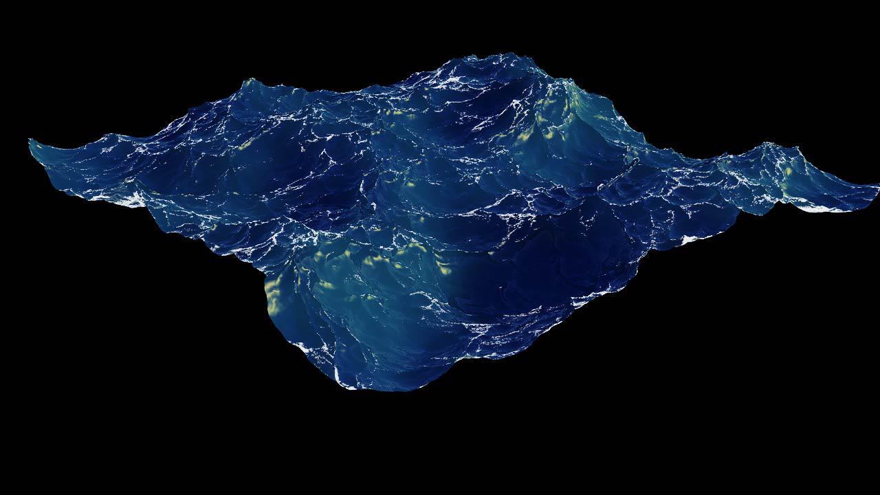 水溶性彩铅手绘海洋