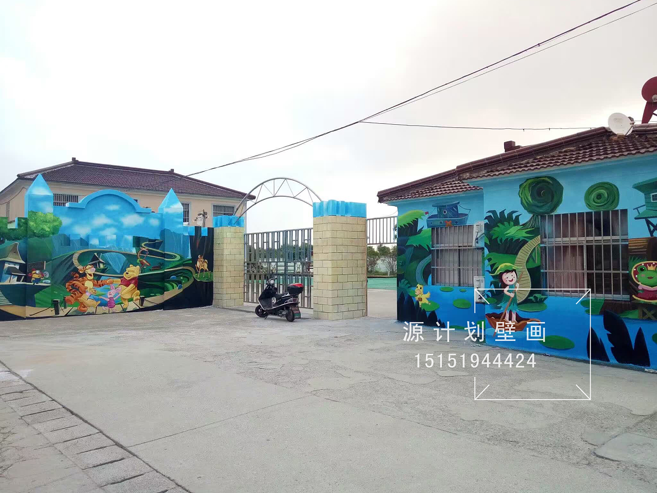 川埠幼儿园墙面手绘