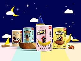 蘑蘑牛——儿童休闲食品海苔包装设计