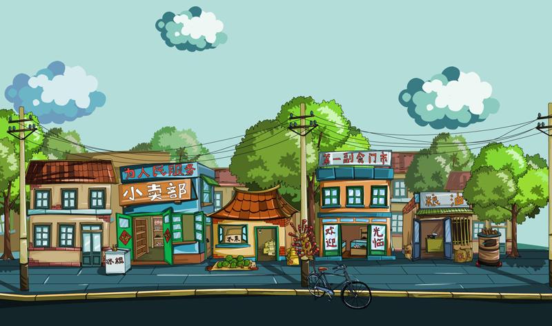 街道场景图片