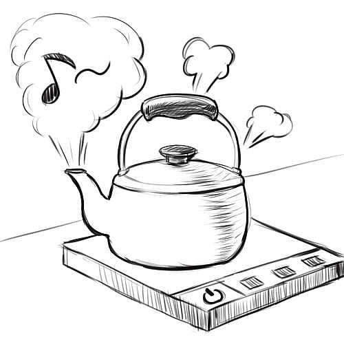 六格漫画 电饭锅+打球水+烧开漫画调图片