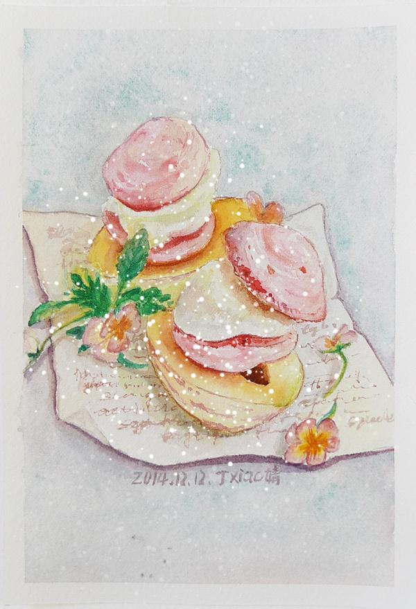 水彩手绘美食插画23