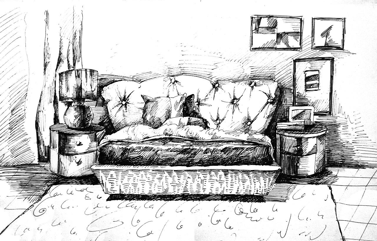 简笔画 手绘 素描 线稿 1280_817