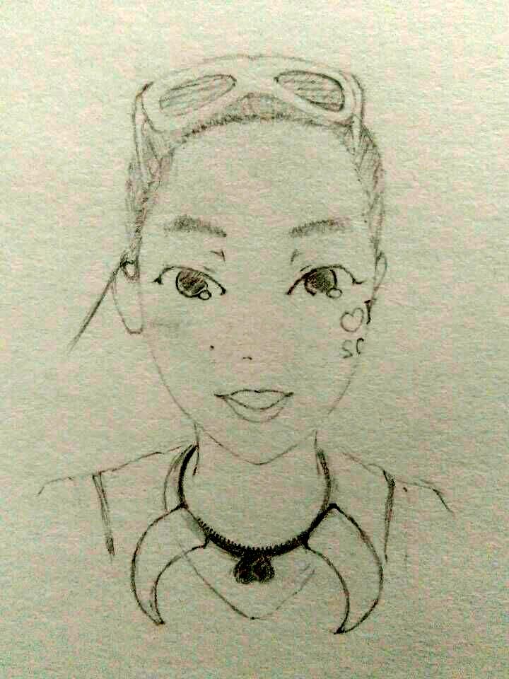 铅笔人物手绘|肖像漫画|动漫|猫猫不长大