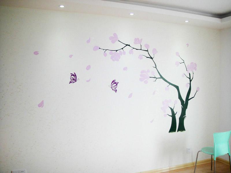 影视墙手绘图|插画|涂鸦/潮流|西安学校商场墙绘