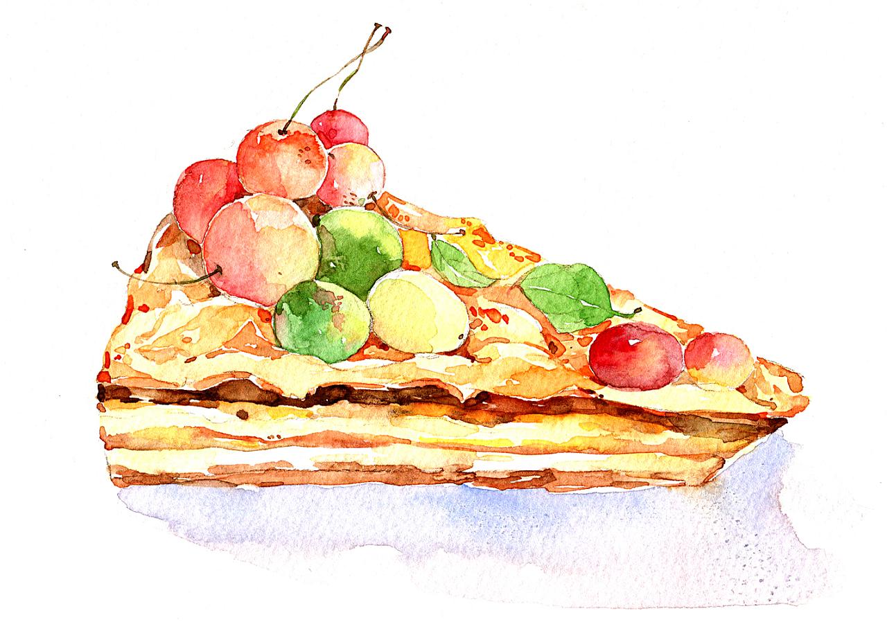 食物照片转手绘