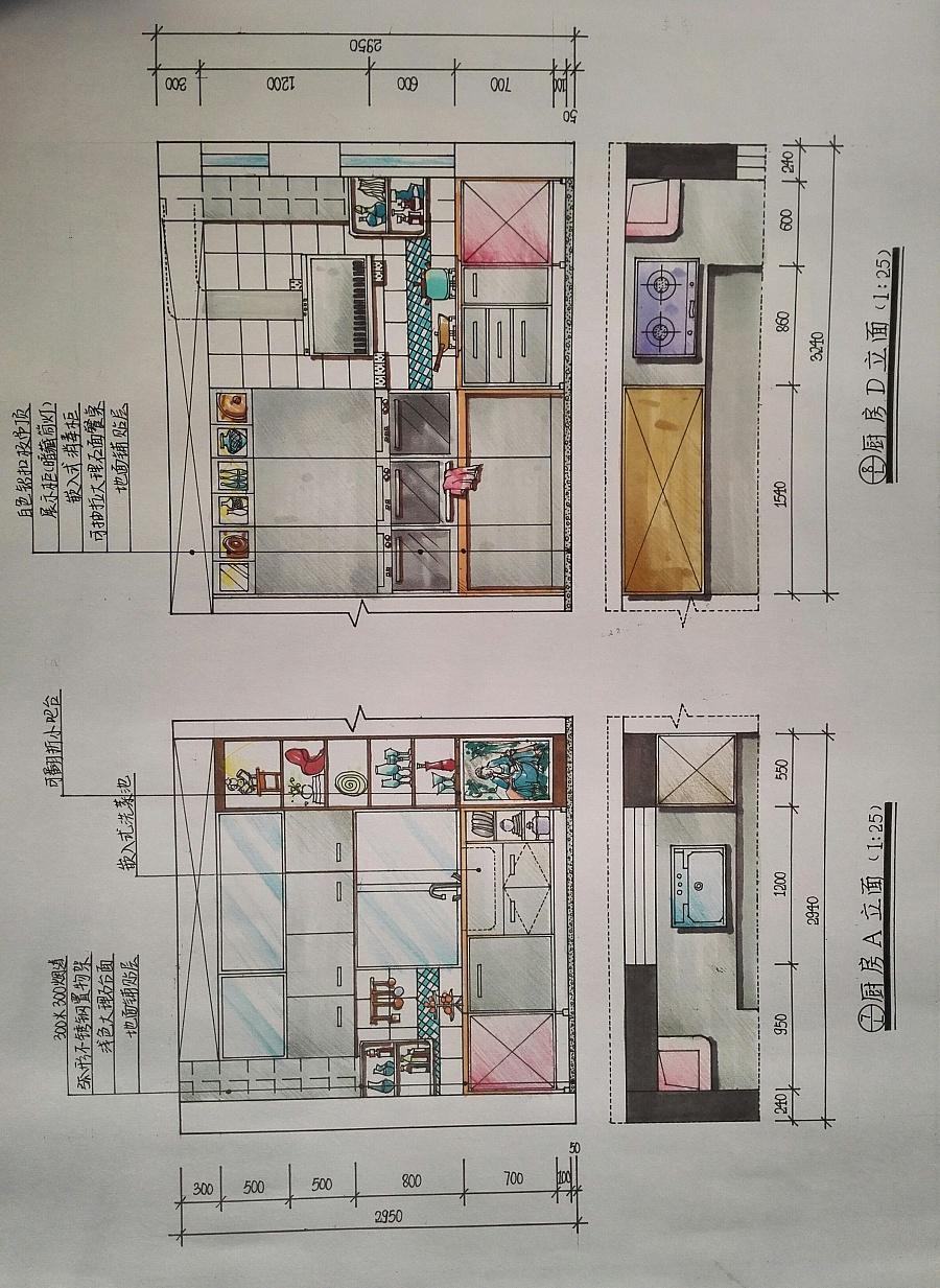 室内手绘效果图|室内设计|空间/建筑|那个男人20