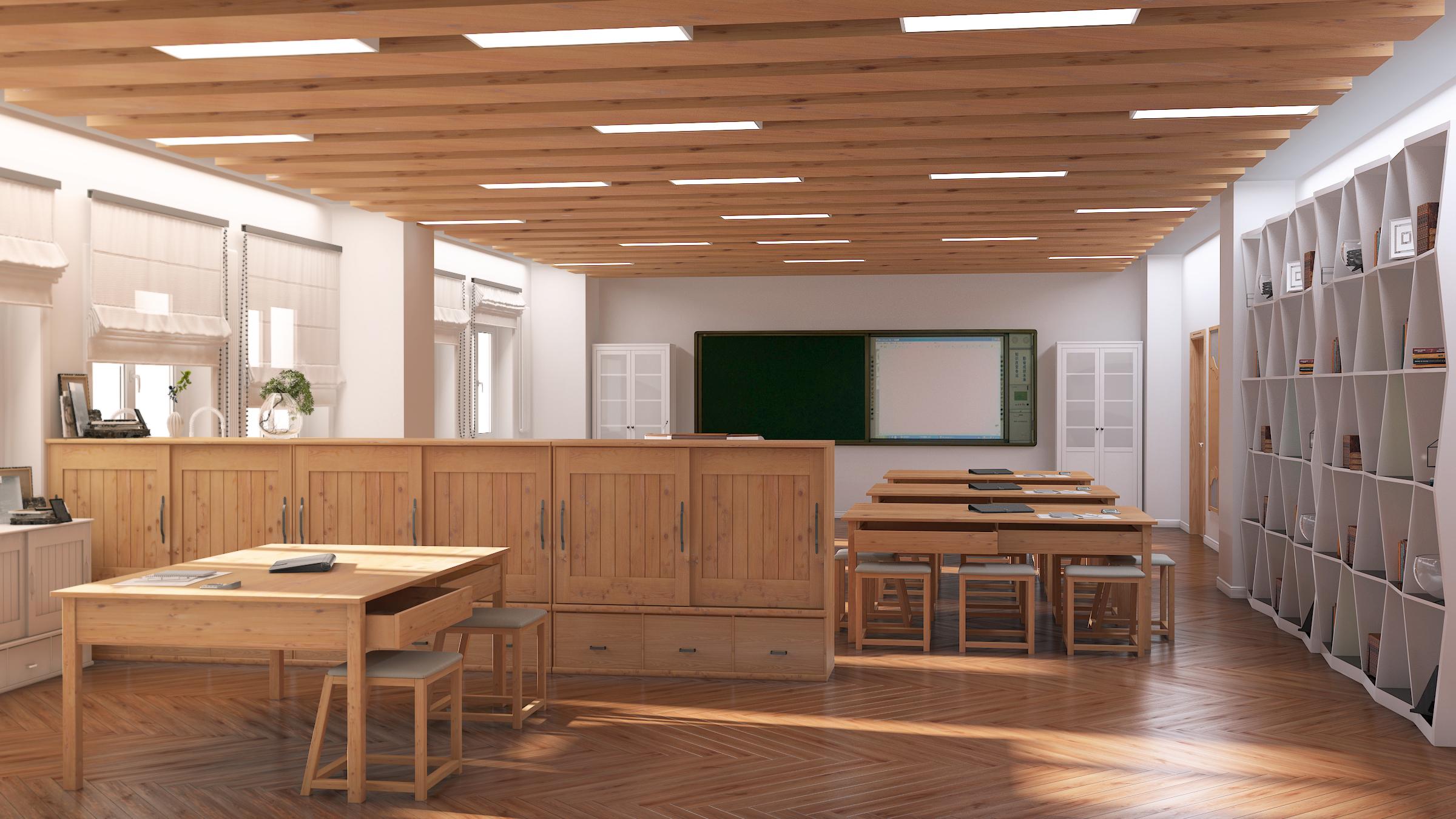 教室总集,|空间|室内设计|斑马_斑马 - 原创作品