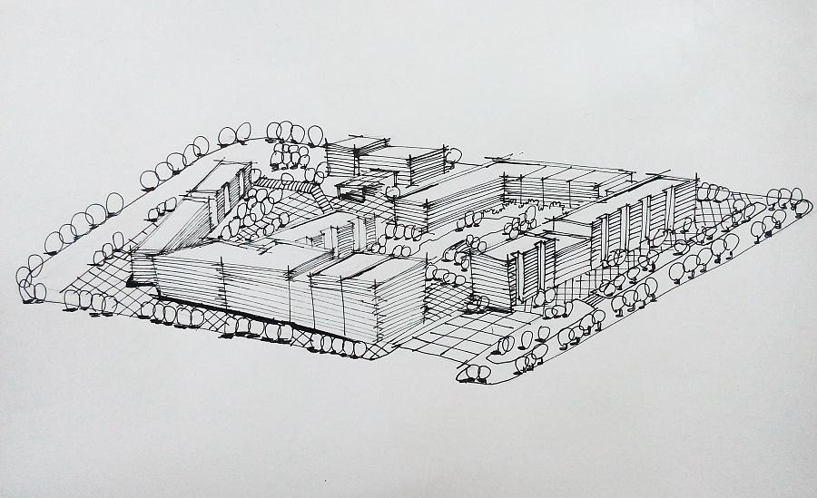 规划类手绘图|建筑设计|空间/建筑|鹿小尤