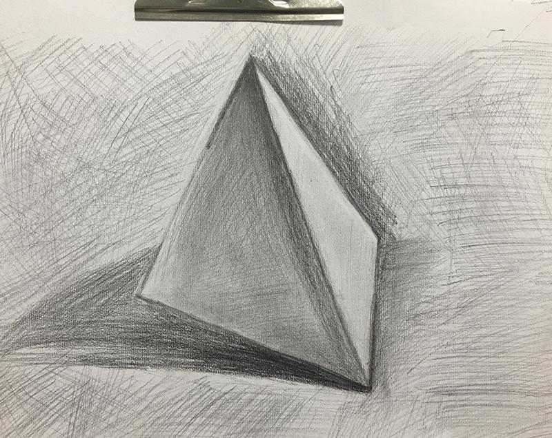 几何石膏素描基础图片