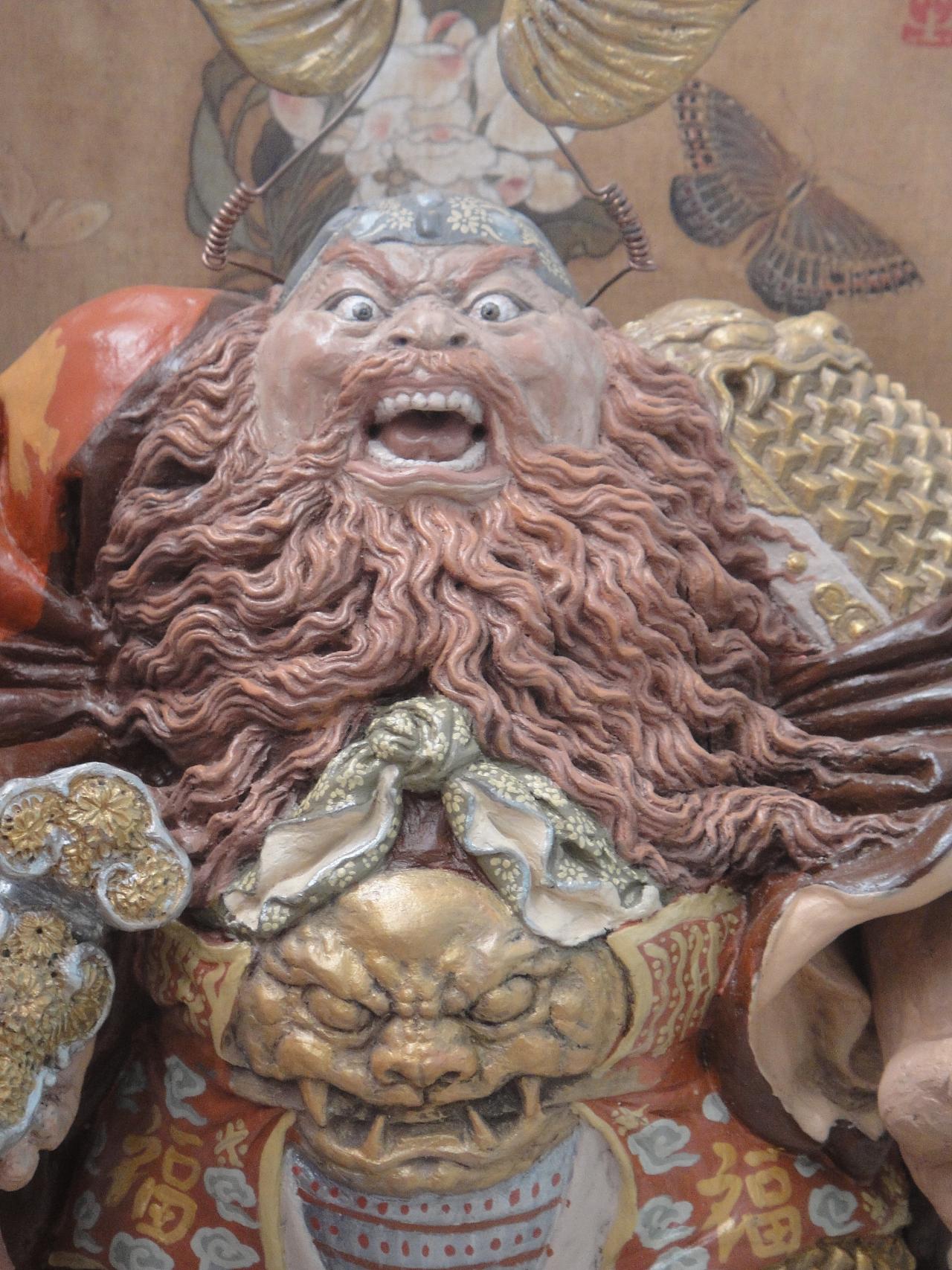 传统泥塑--钟馗|手工艺|工艺品设计|塑说即墨 - 原