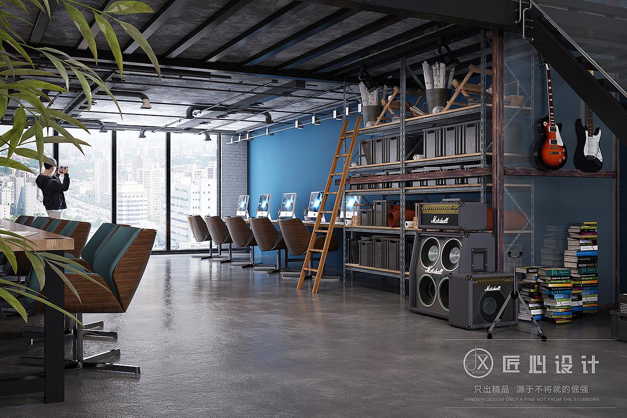 小面积办公室_Loft 工作室|空间|室内设计|老匠 - 原创作品 - 站酷 (ZCOOL)