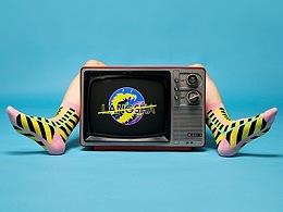 彩色图案袜子系列设计