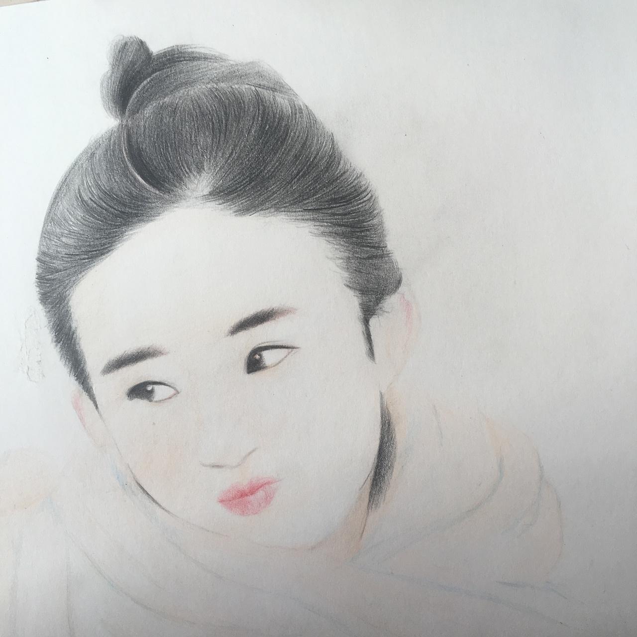 彩铅手绘赵丽颖