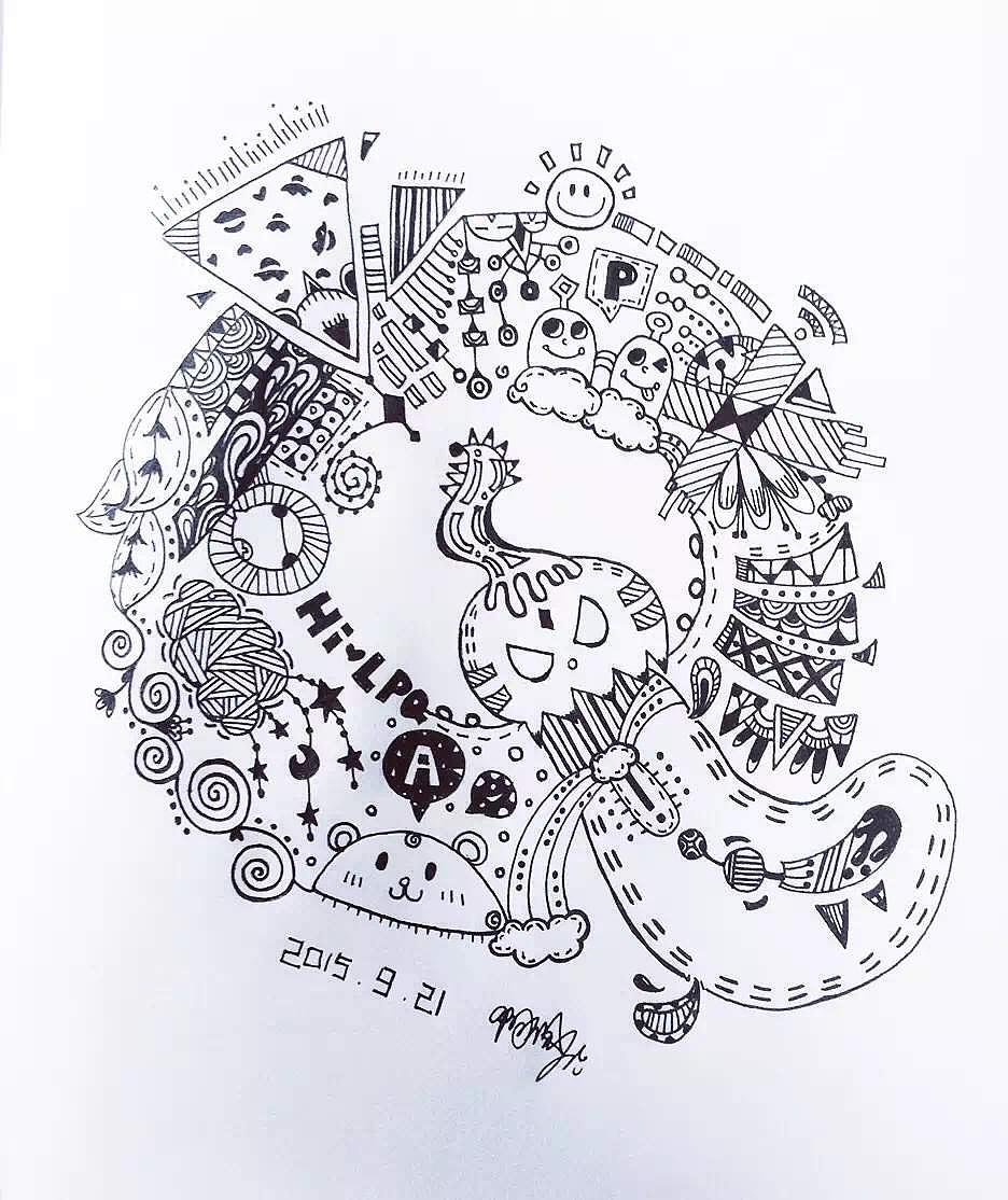字母手绘设计|插画|插画习作|a阿佩 - 原创作品