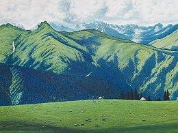 我的新疆风景油画作品