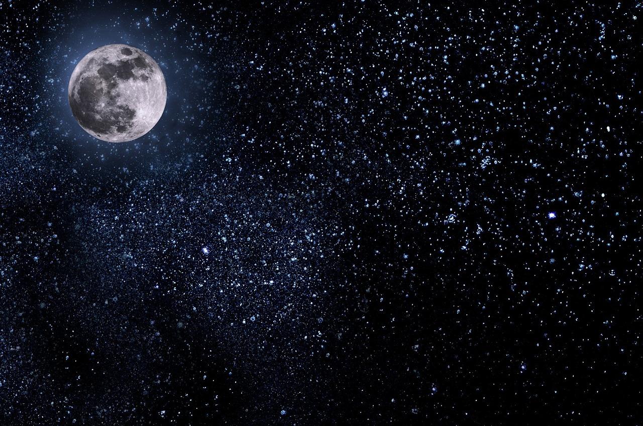 情人节中秋天猫淘宝京东背景高清大图月亮月兔团圆花朵嫦娥奔月99大促图片