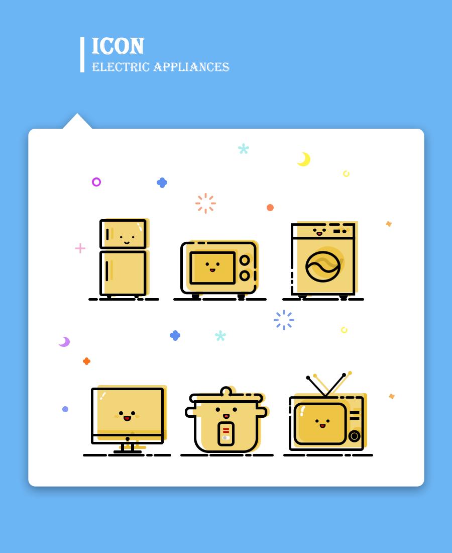 萌萌哒家用电器|ui|图标|小纯子123 - 原创作品图片