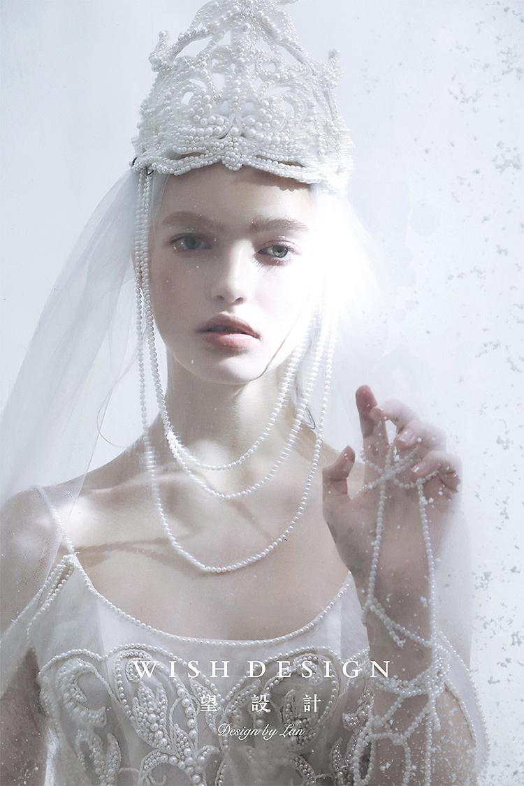 珠 服装 正装 礼服 婚纱设计师兰奕