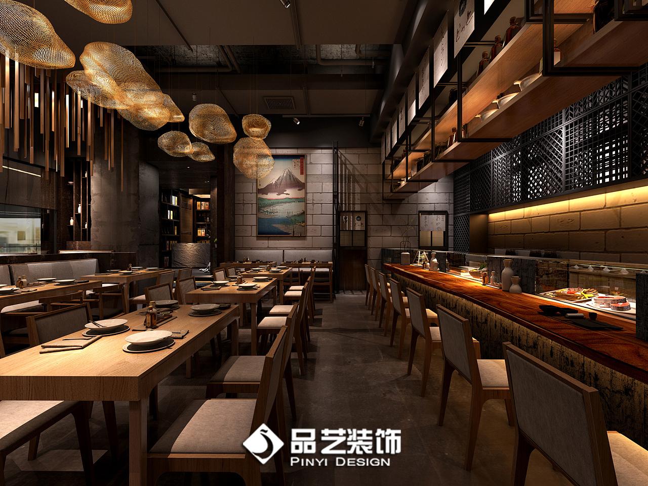 日式餐厅料理主题餐厅装修设计效果图