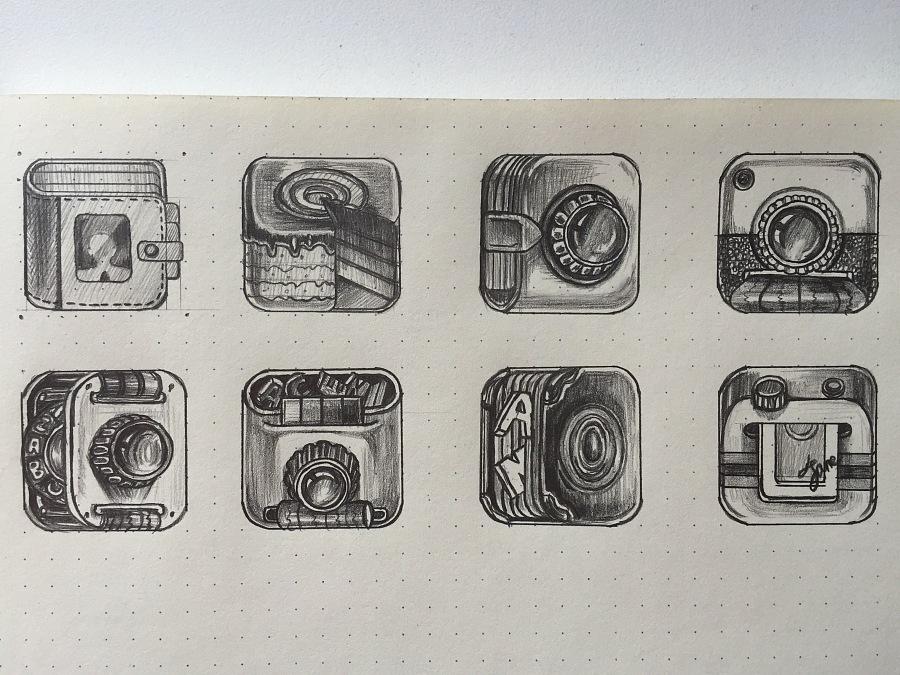 手绘手机图标临摹|图标|ui|jane260 - 原创设计作品