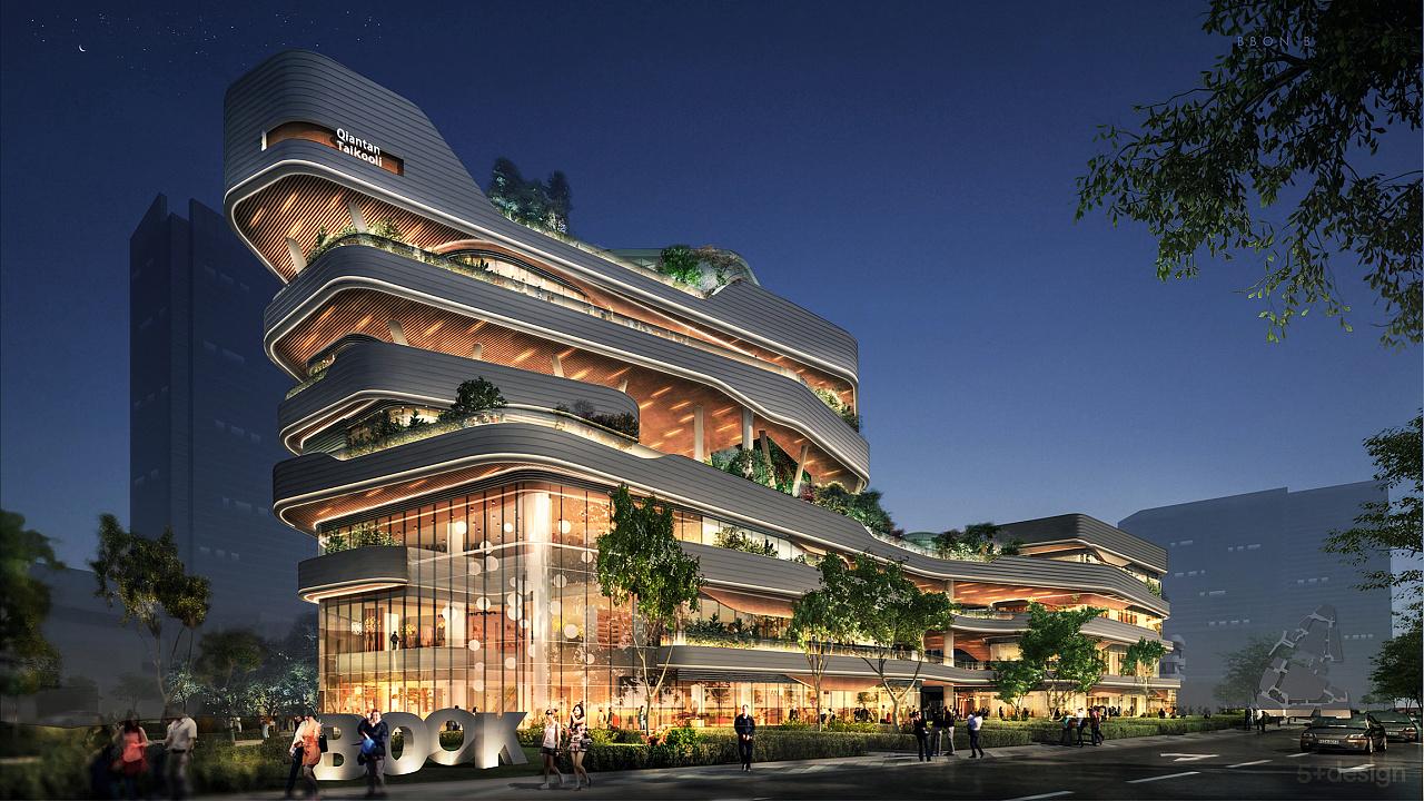 商场建筑夜景灯光设计