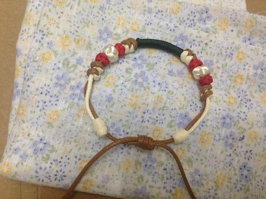 原创作品:玉线编织手链