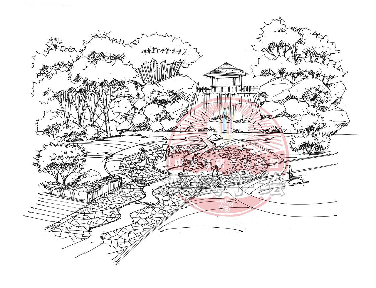 汉武作品——沿江公园|空间|景观设计|汉武手绘
