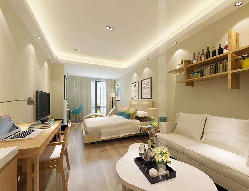 昆明公寓式酒店装修公司北欧风格公寓式酒店设计效果图图片