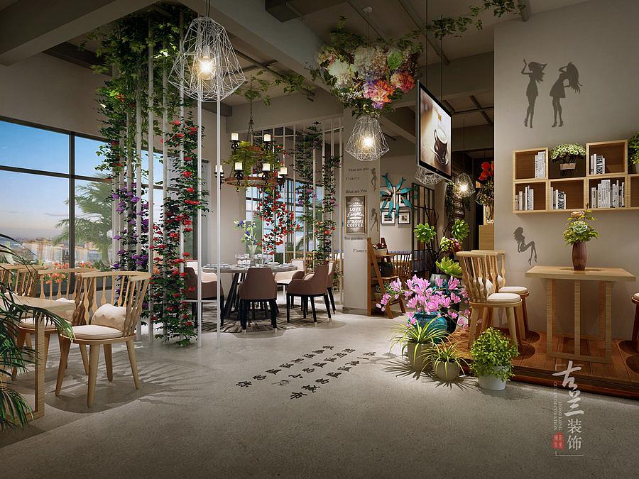《铜川西餐厅》花园式餐厅设计效果图-邛崃专vi设计和品牌包装设计区别图片