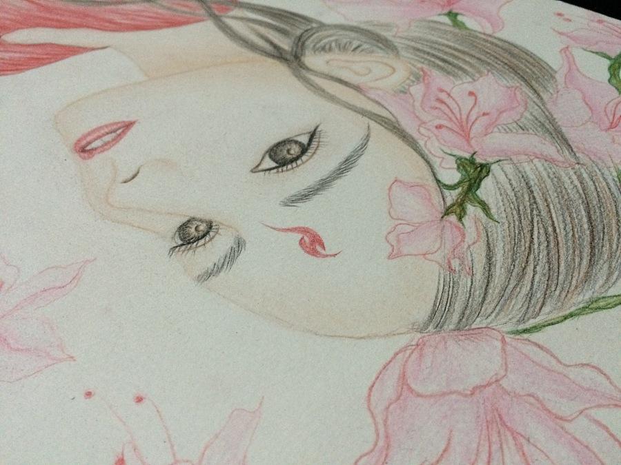 三生三世十里桃花|彩铅|纯艺术|栗子设计7 - 原创设计