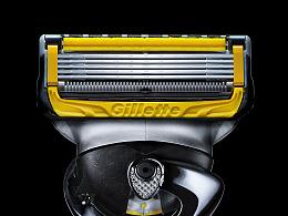 吉列Gillette手动剃须刀刮胡刀 产品拍摄