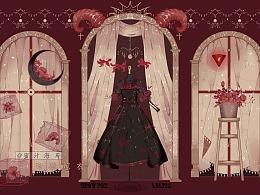 【lolita柄图设计】暗狱嫁衣