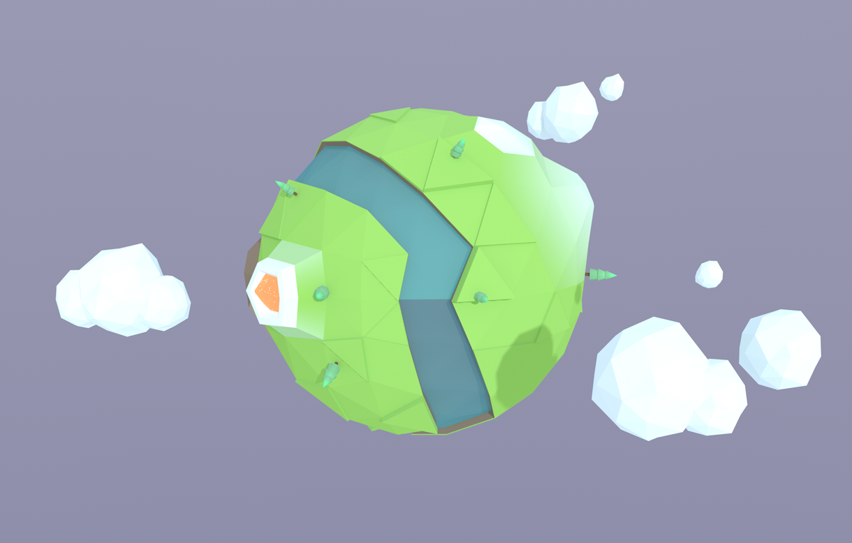 low poly earth图片