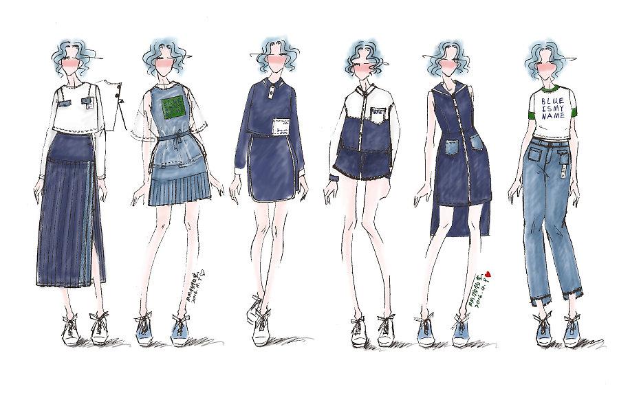 2016秋季牛仔系列原创 设计稿|休闲/流行服饰|服装