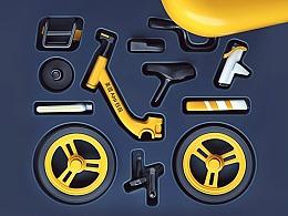 共享单车的三维创意