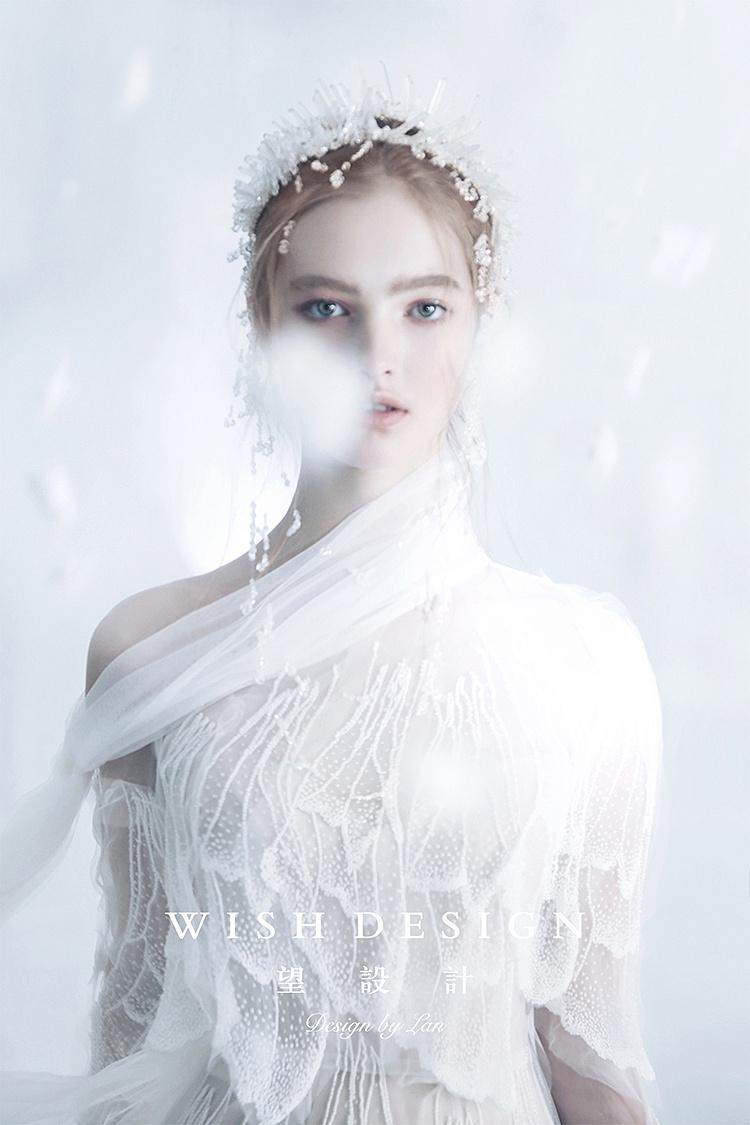 羽 婚纱设计师兰奕2019雪与樱