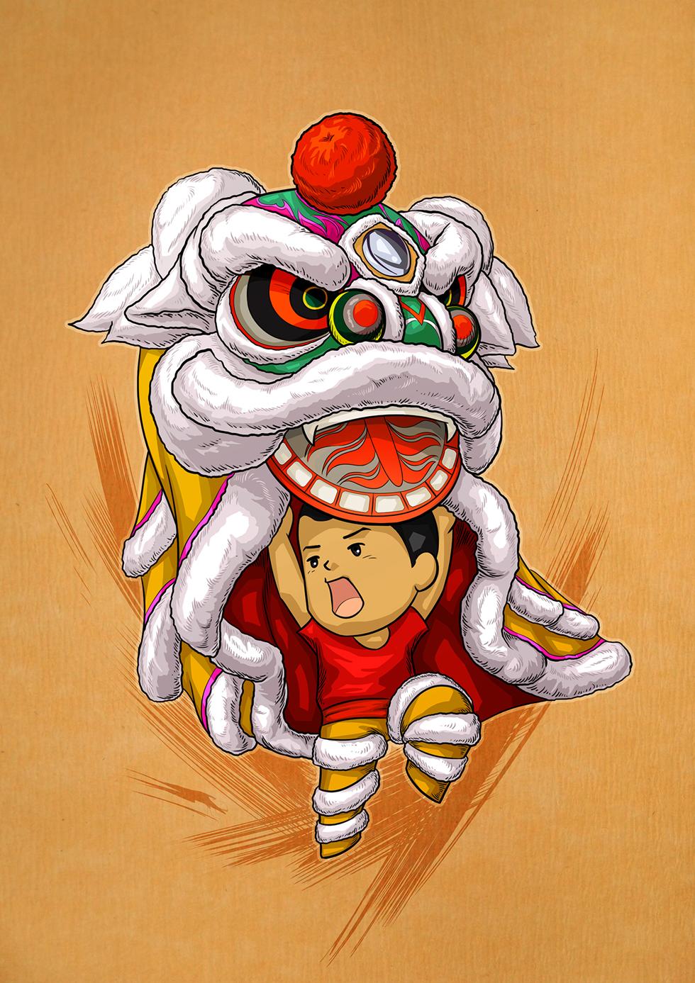 中国舞狮图片大全 图片合集