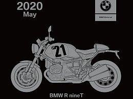 BMW 2020台历