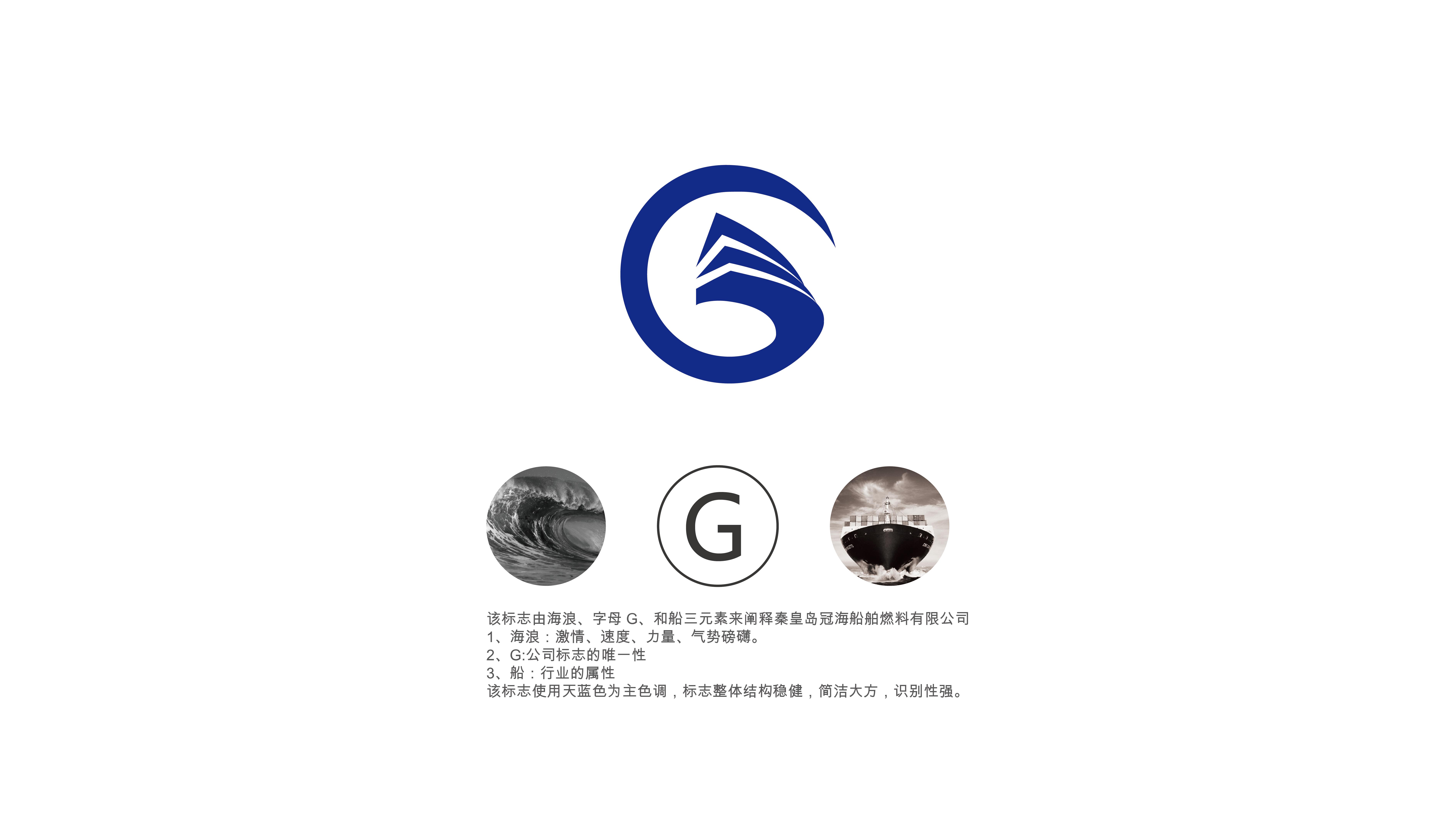 秦皇岛冠海船舶燃料有限公司logo设计|平面|标志|清酒