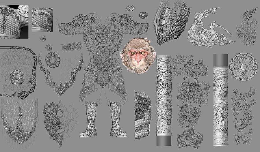 查看《【开天工作室神话系列第二款·齐天大圣雕像】》原图,原图尺寸:3560x2085