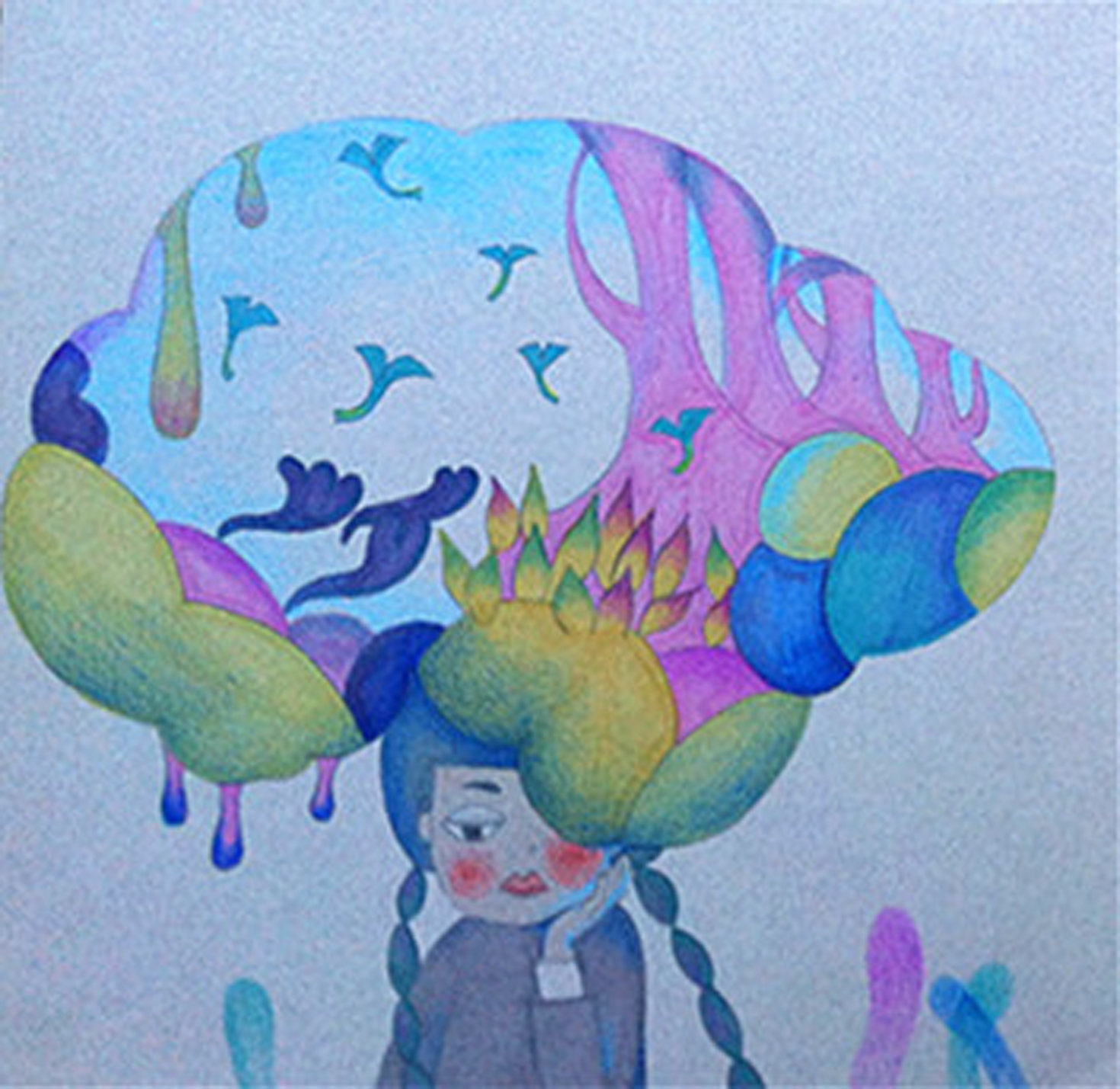 春夏秋冬|插画|插画习作|迷路的麋鹿鹿 - 原创作品图片