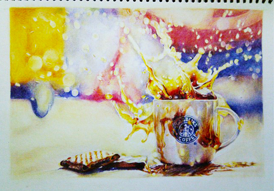 高中时期的彩铅试|纯艺术|彩铅|hugo由哥 - 原创作品图片