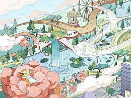 融创安徽滨湖印《中央公园的奇想世界》原创绘本