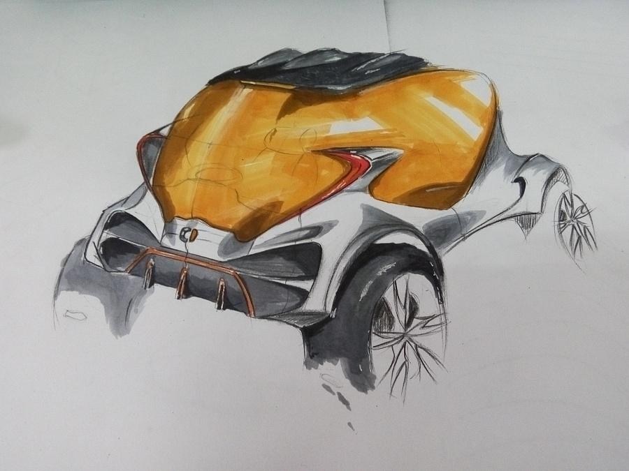汽车马克笔手绘练习|交通工具|工业/产品|陈敬洪