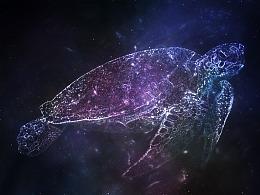 星空宇宙梦幻海龟