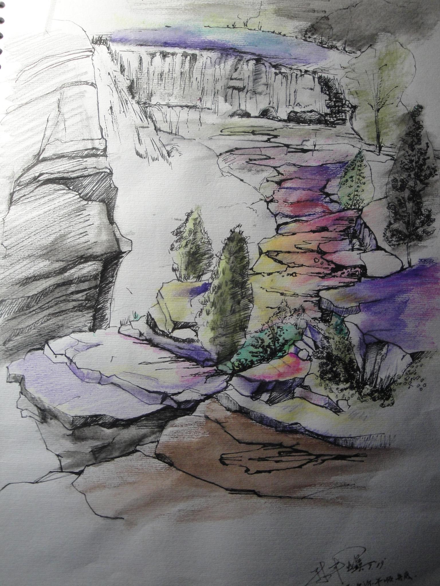 风景手绘|纯艺术|钢笔画|design sun - 原创作品