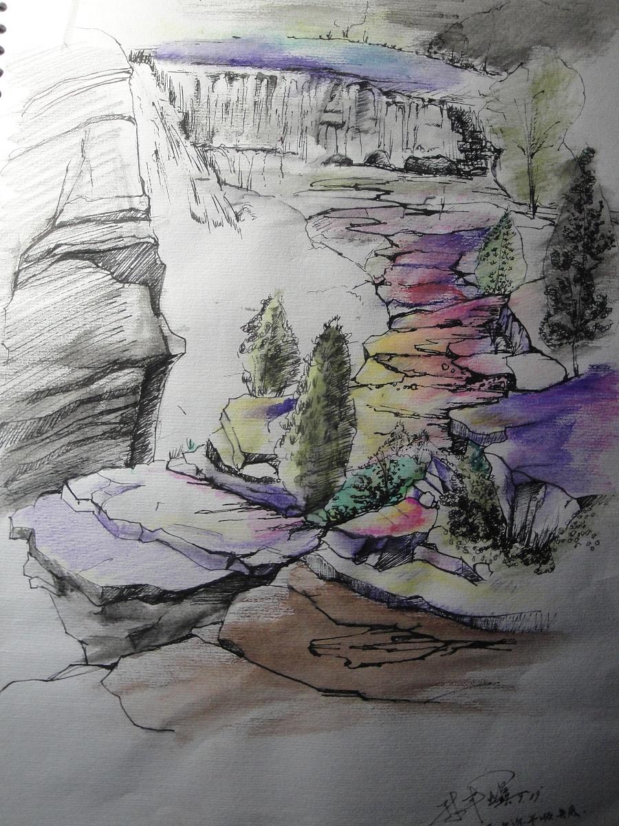 原创作品:风景手绘