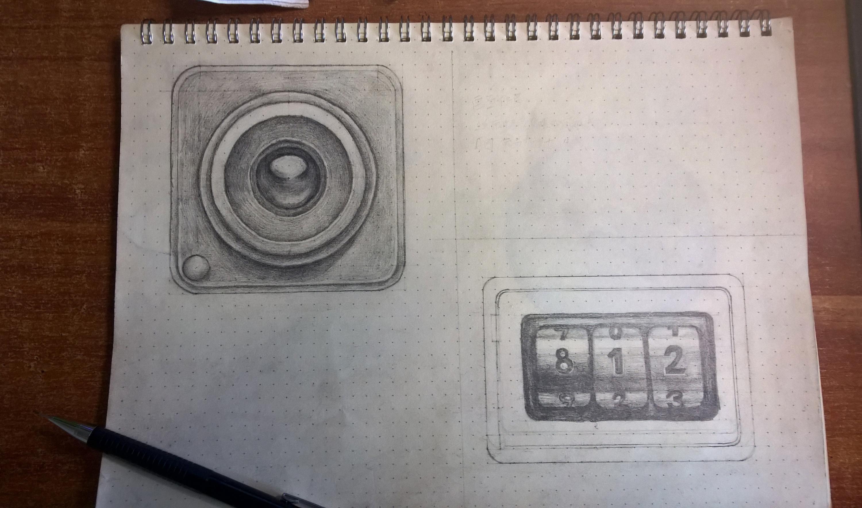手绘图标/照相机