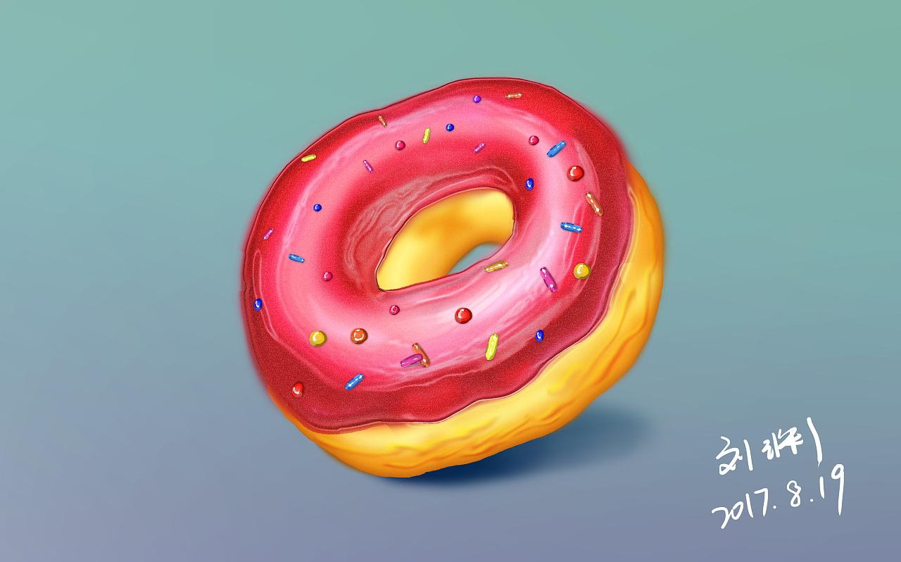 甜甜圈练习|插画|插画习作|小毛140316 - 原创作品图片